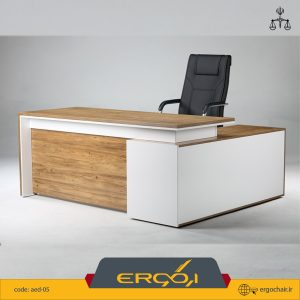 میز کارشناسی ال دار mdf