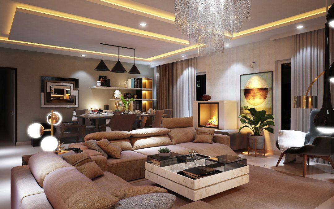 طراحی و چیدمان منزل با نور